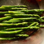 Seasonal vegetable asparagus in Hananoie