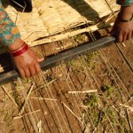 Making traditional-style matress (gundri)