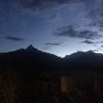 8月7日 朝5時のはなのいえからの山の様子